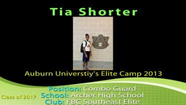 Tia @ Auburn University's Elite Camp
