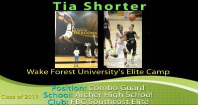 Tia @ Wake Forest Elite Camp