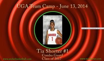 Tia @ UGA Team Camp 2014