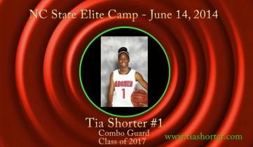 Tia @ NC State Elite Camp