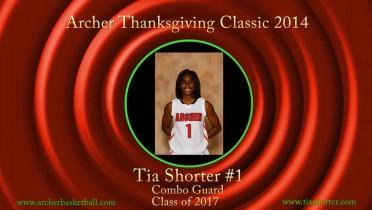 Tia @ Archer Thanksgiving Classic – 2014