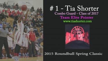 Tia Shorter (1) @ 2015 Roundball Spring Classic