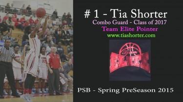 Tia Shorter (#1) @ PSB – Spring PreSeason 2015