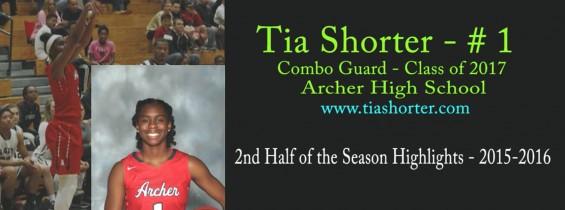 Tia's 2nd Half of the Season Highlights: 2015-2016